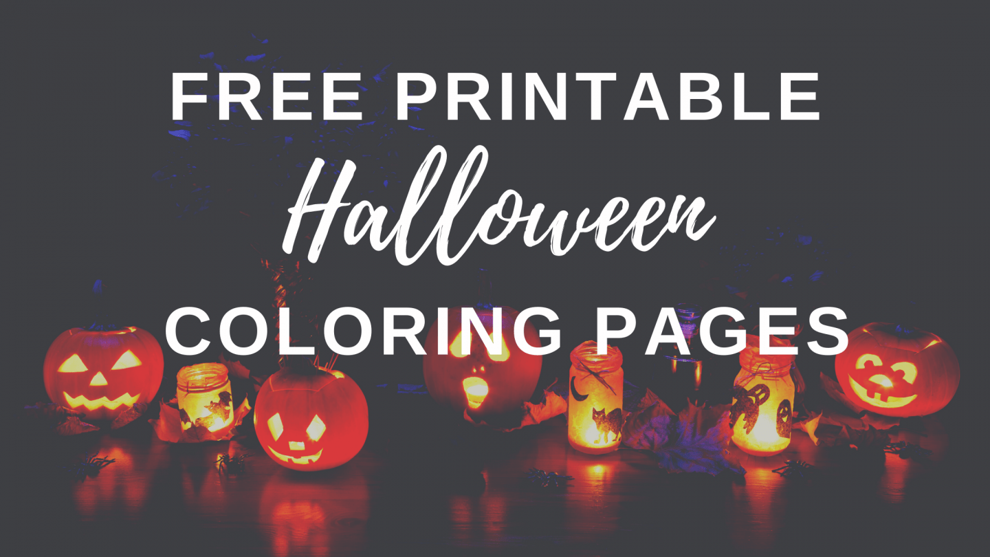 Free Halloween coloring pages for kids and adults - with over 15 printables there's bound to be something they'll love!