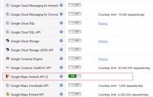 Google Maps Android API v2 ON