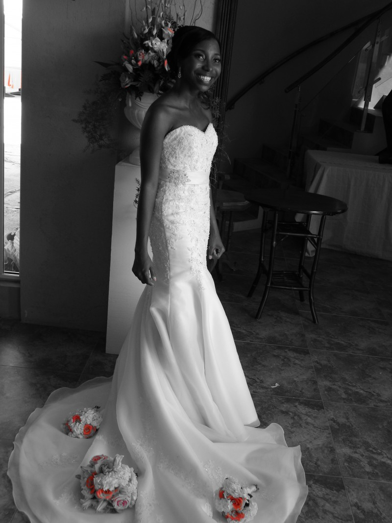 Getting Married in Anguilla - The Wedding Dress on me