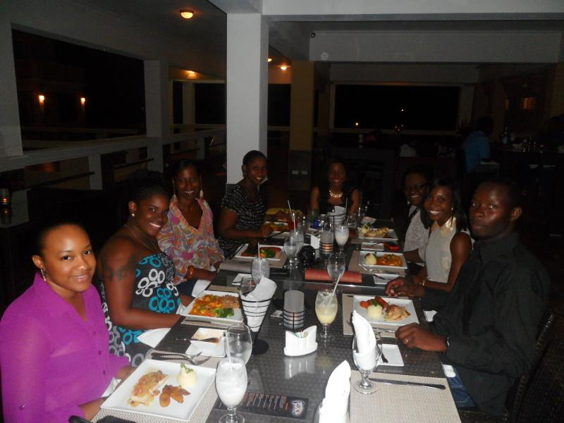 Group Shot at Flavours Restaurant Anguilla