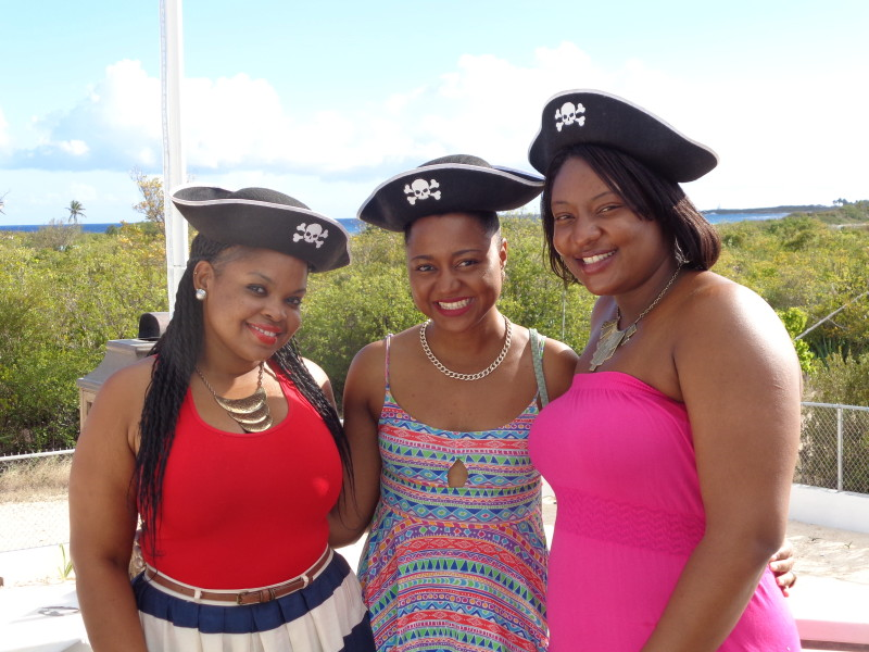 My Anguilla Experience , The beautiful ladies at Pokers Plank Restaurant, Anguilla