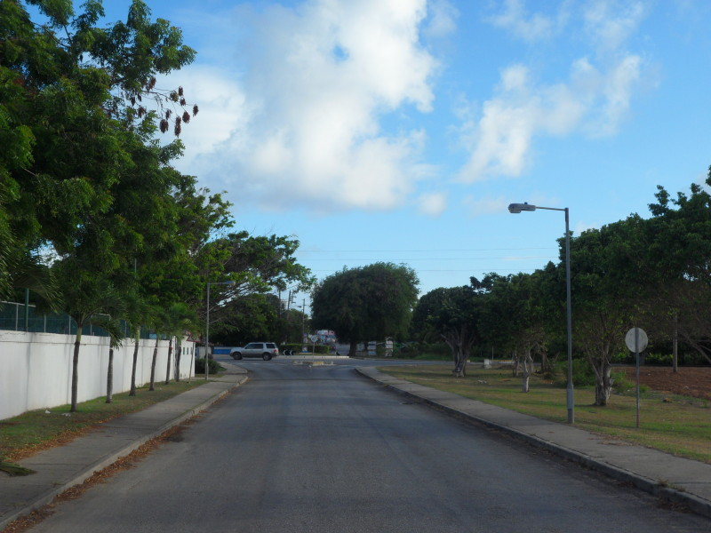 Approaching the roundabout in the Valley, Anguilla