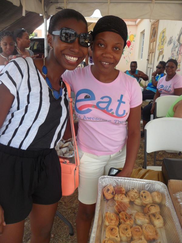 Eva of E.A.T and I at South Valley Community Street Fair, Anguilla