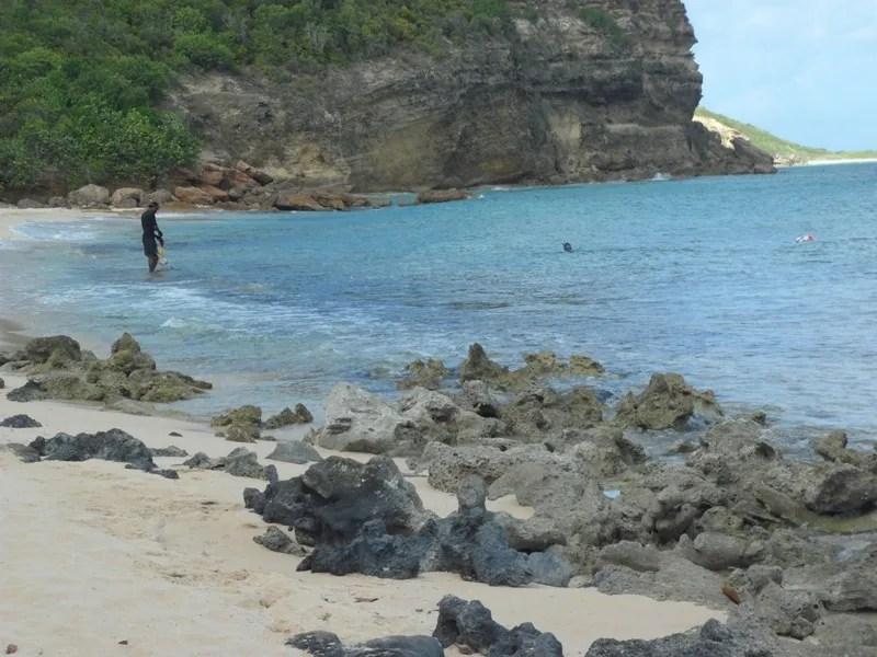 Beautiful and rugged Katouche Bay, Anguilla