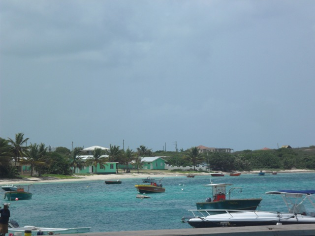 View from the road and wharf of the Vivien Vanterpool Primary School, Anguilla