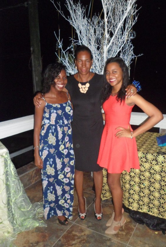 Mom, Sherise and I at Teacher of the Year Award Ceremony, Anguilla
