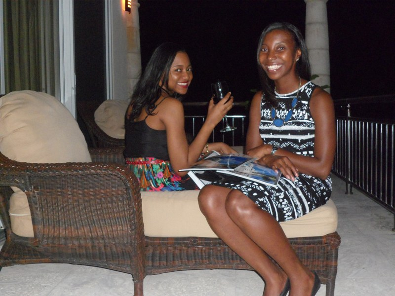 Sherise and I relaxing at launch of Sunset Homes magazine