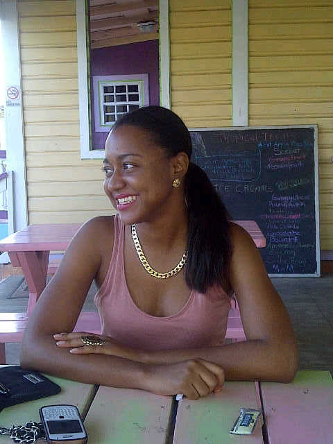 Sherise at Tropical Treats, Anguilla