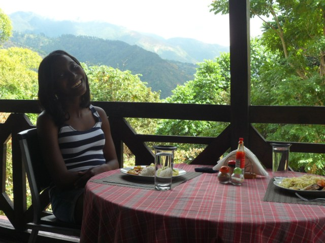 Lunch on the Balcony, Forres Park, Jamaica