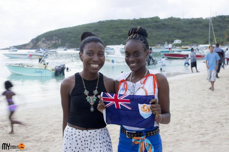 Rennetta and Shelly at Anguilla Day boat race