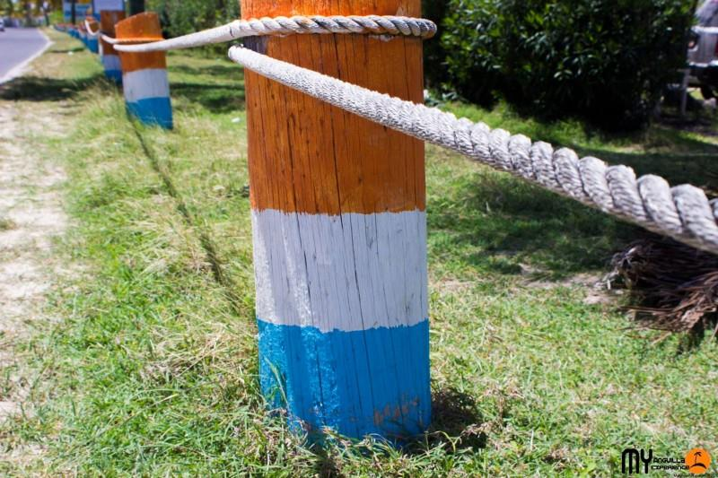 Poles in national colours Anguilla Day Countdown
