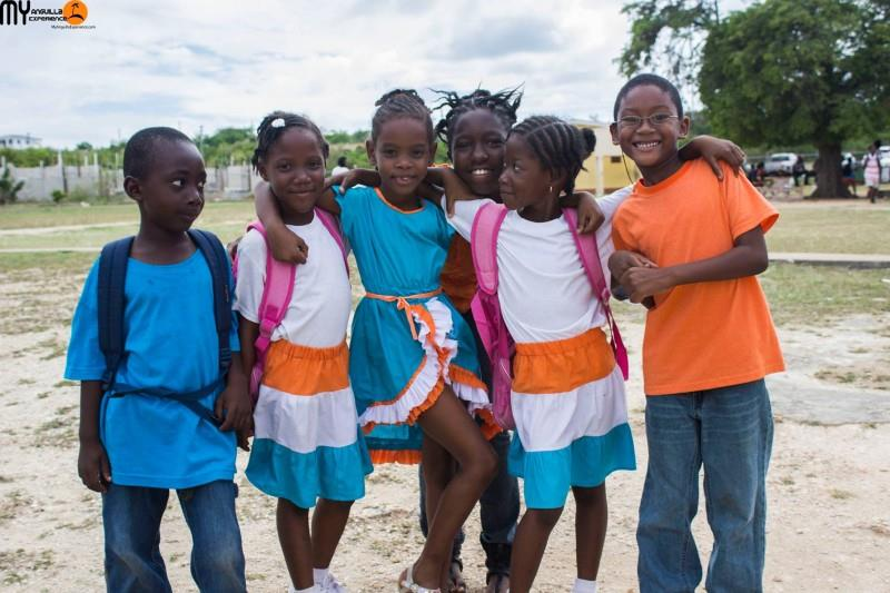 Anguilla Day Countdown Smiling Children