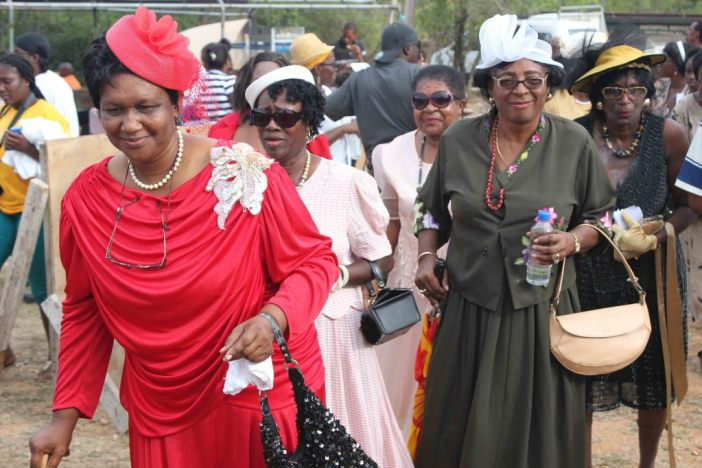 Old time wedding participants Welches Village fest Anguilla