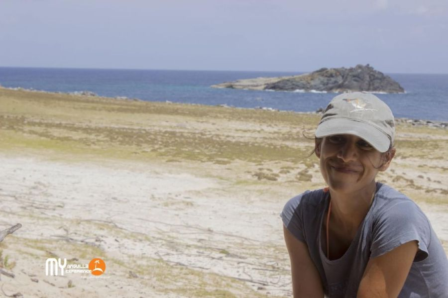 Farah with her forever smile on Dog Island