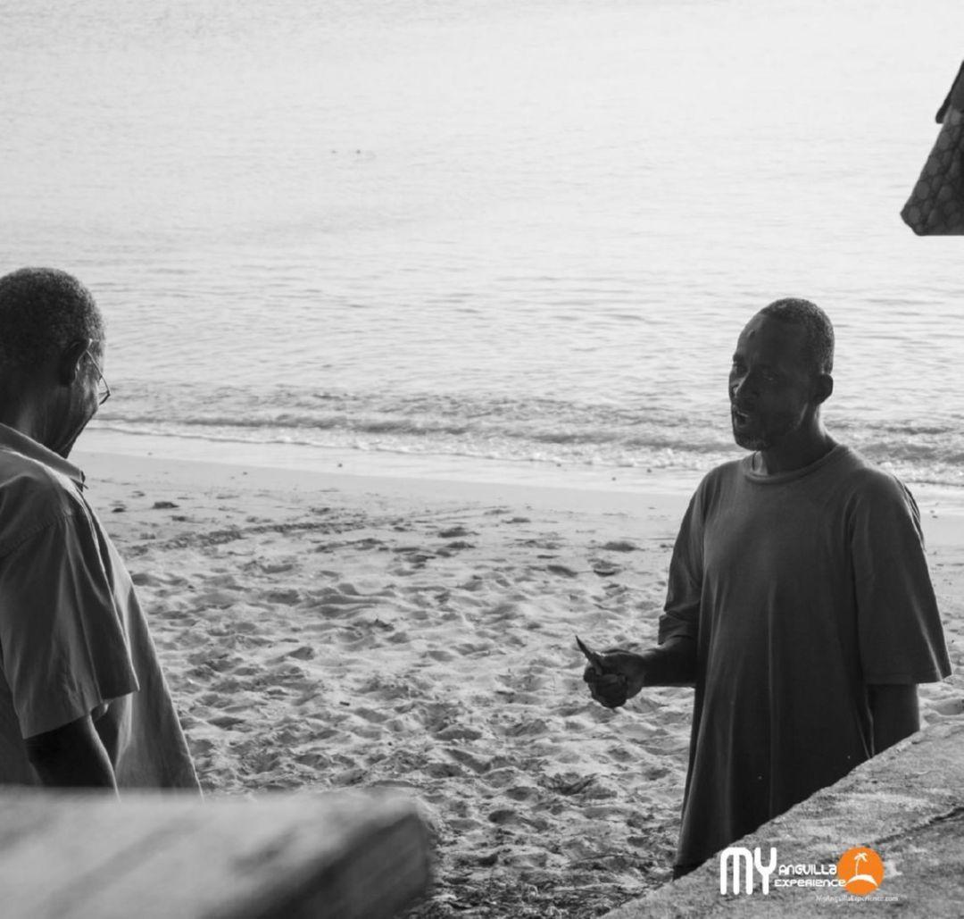 Junior discusses Stingray at Crocus Bay