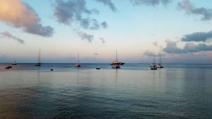 Boats in Crocus Bay, Anguilla