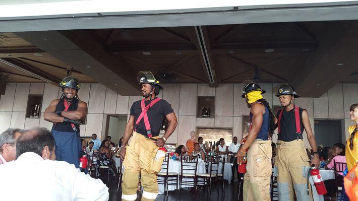 Firemen at Runway Anguilla 2015