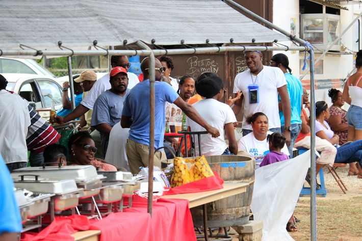 People at Fisherman Day Anguilla