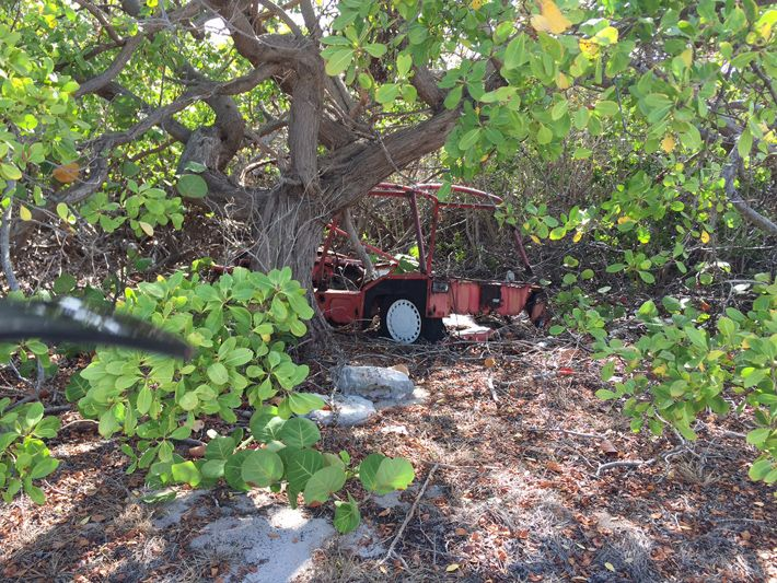 Scrub Island old vehicle