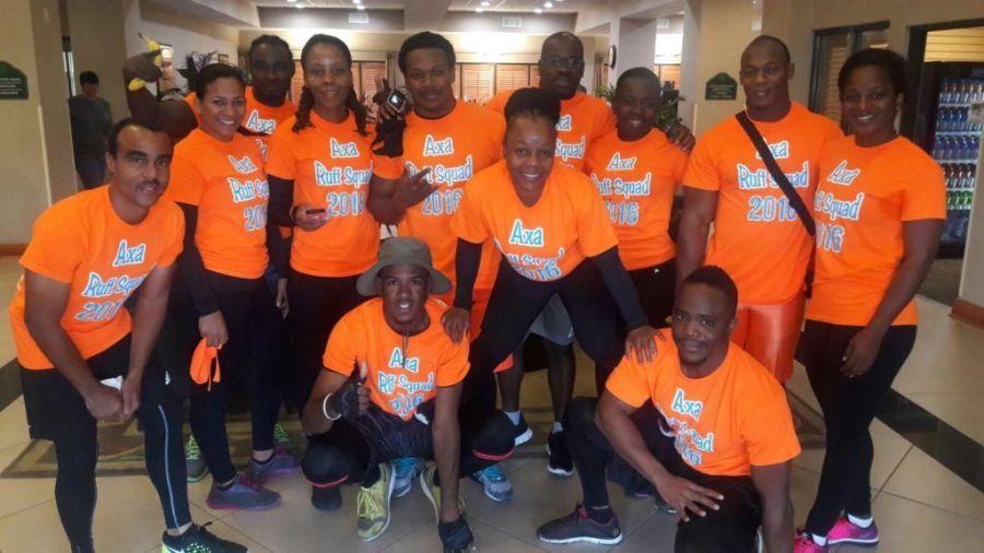 Anguilla Tough Mudder fitness team