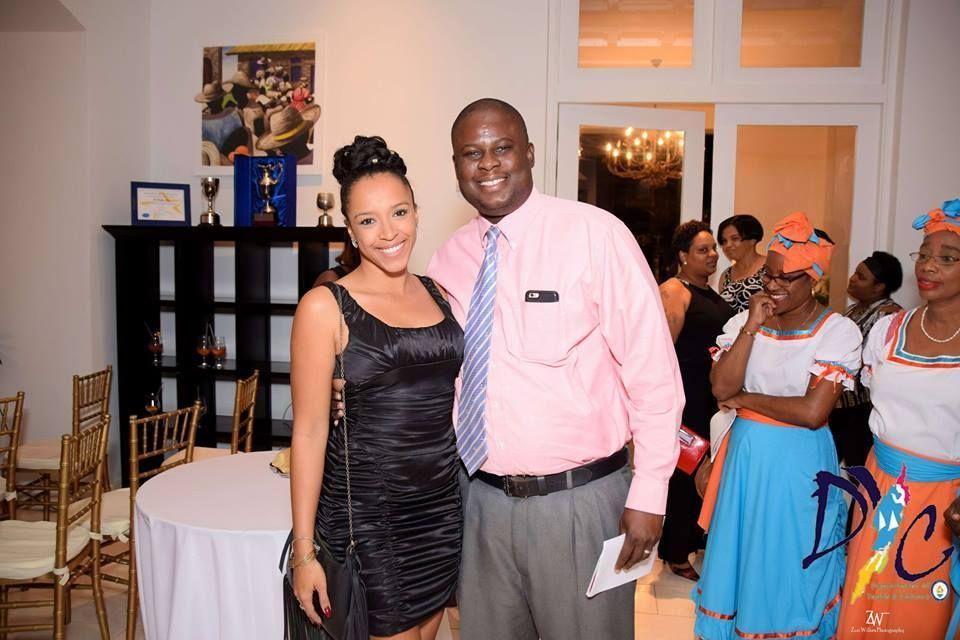 Deputy Governor Mr. Perin Bradley and Vanessa Thompson