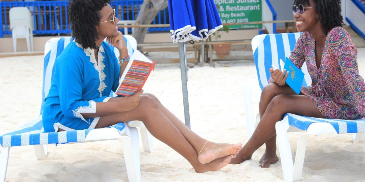 Girl Talk on Shoal Bay Beach