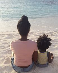 Mommy and Xavu time on Shoal Bay