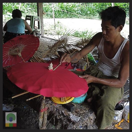 Burmese Bamboo Parasol Workshop - Pathein - Myanmar (Burma) 3