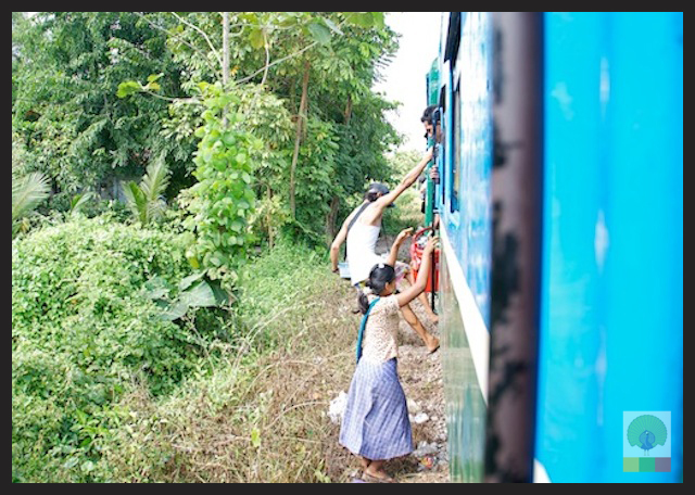 Circle Line Train - Yangon - Myanmar (Burma) 2