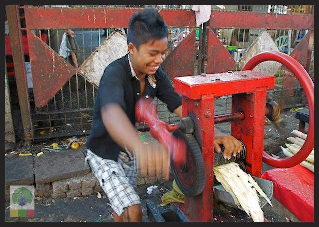 Sugar Cane Juice Yangon Myanmar 4
