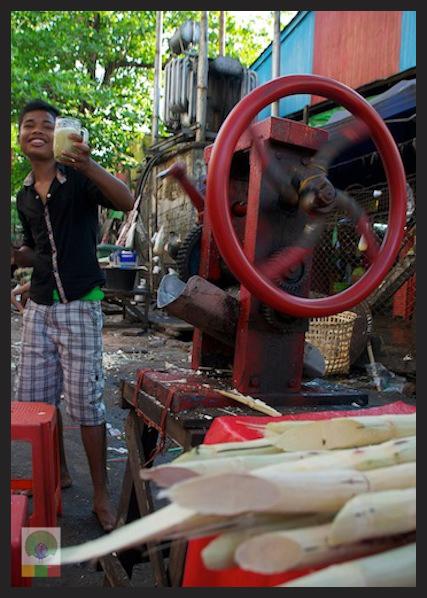 Sugar Cane Juice Yangon Myanmar 5