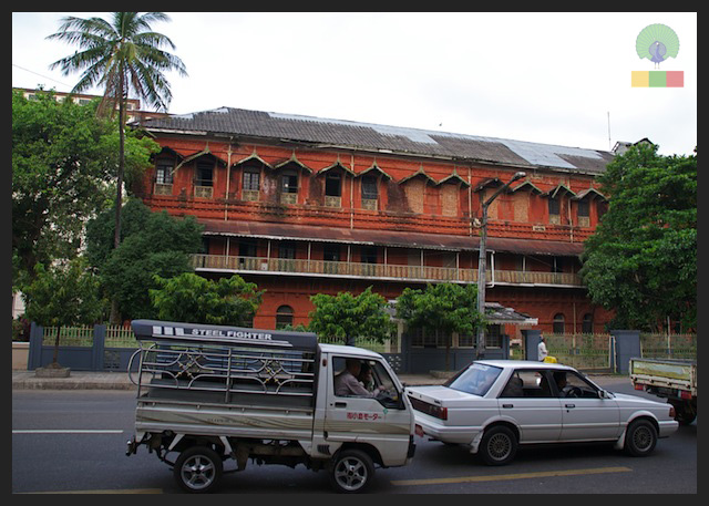 Former railway office - colonial building in Yangon - Myanmar (Burma) 5