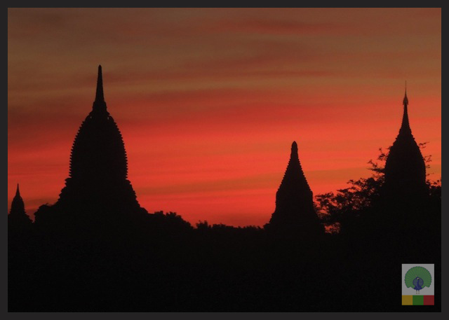 Sunset at The Temples of Bagan, Myanmar