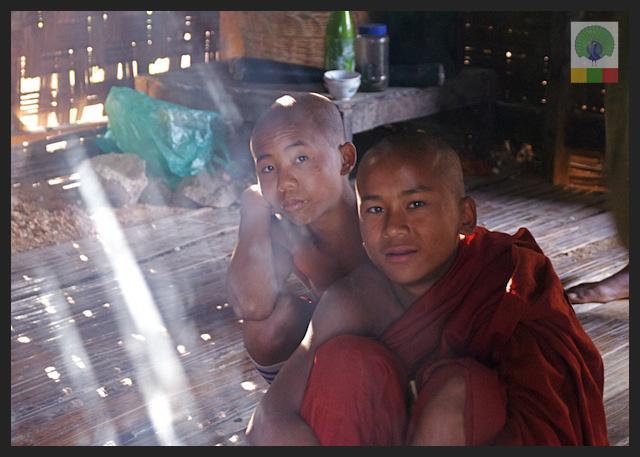 Novice Monks - Monastery - Inle Lake - Myanmar (Burma) 2