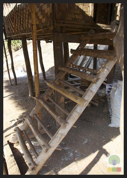 Bamboo Hut Stairs - Myanmar (Burma) 2
