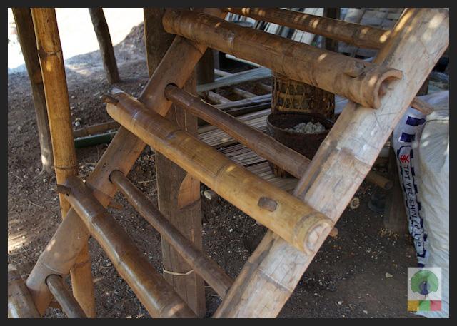 Bamboo Hut Stairs - Myanmar (Burma) 3