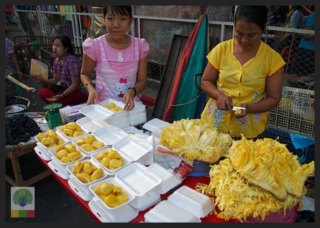 Jackfruit - fruit stall - Myanmar (Burma)