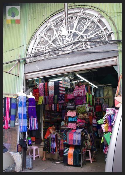 Shopping Cloth in Yangon - Bogyoke Aung San Market (former Scott's Market) - Myanmar (Burma)