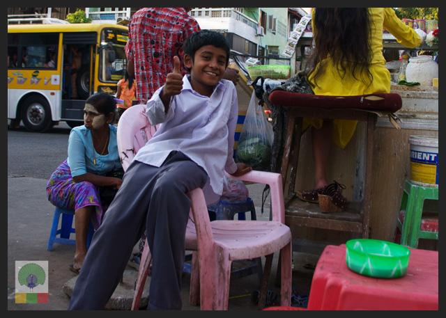 Smiles - Burmese Kid at teashop - Yangon - Myanmar (Burma)