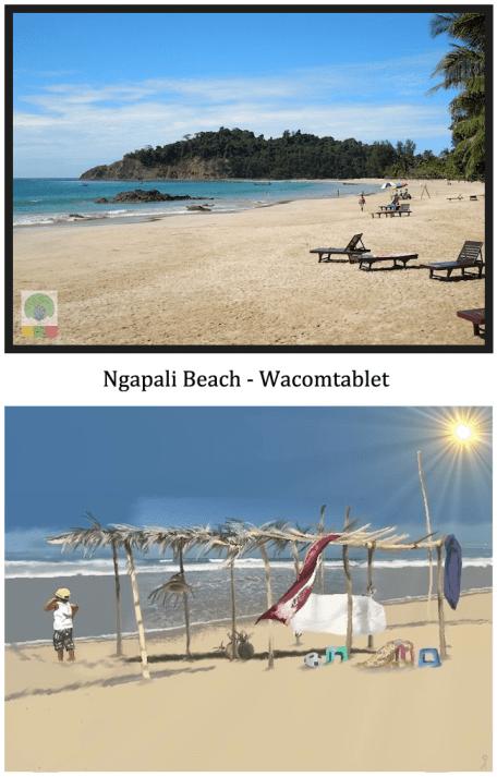 Ngapali beach - wacomtablet - Myanmar (Burma)