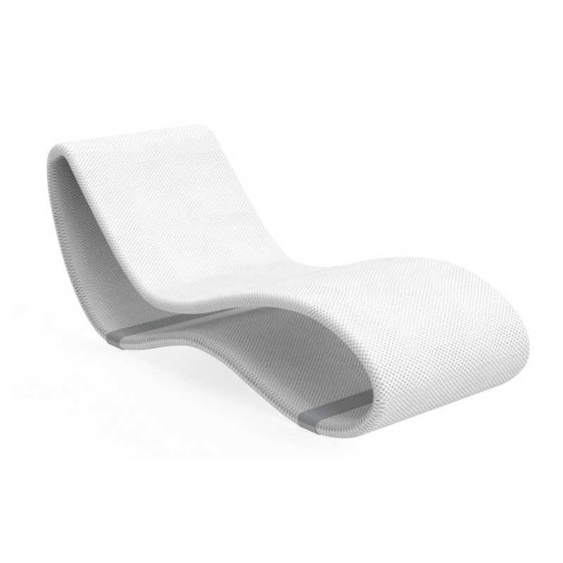 talenti outdoor sunbed chaise longue breez 2 0 premium collection white aluminium and microfeel fabric