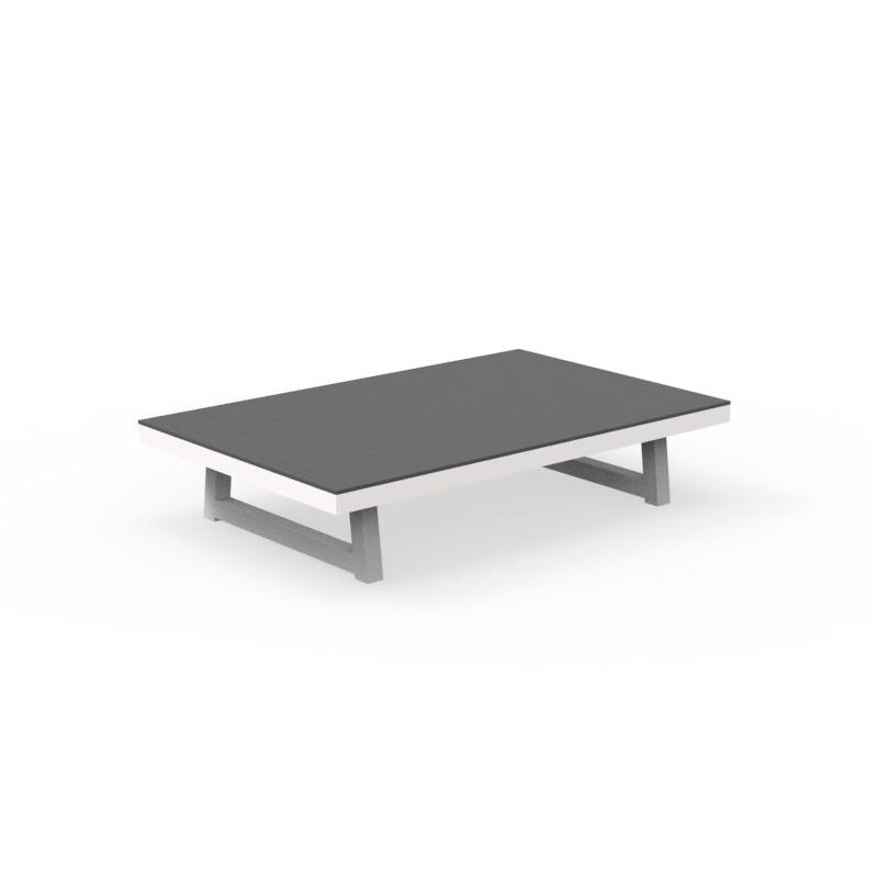 talenti outdoor coffee table alabama alu collezione premium white dark cement painted aluminum and cement fiber