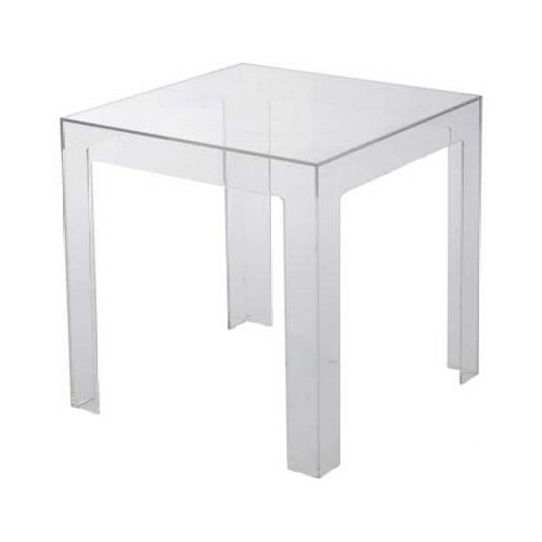 kartell table basse jolly cristal polycarbonate transparent