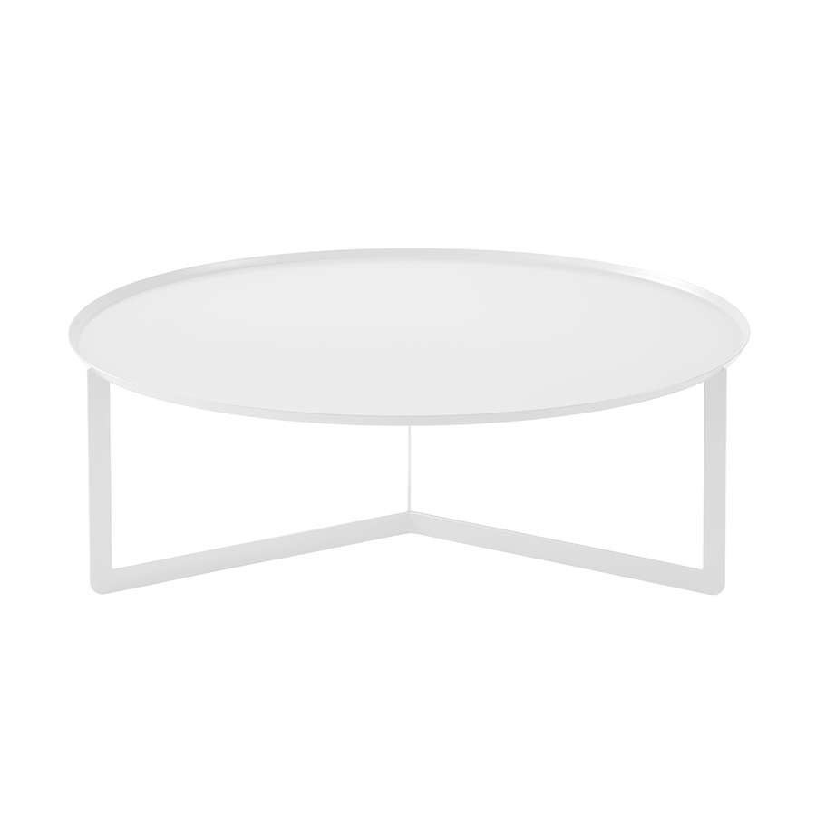 meme design coffee table round 5 white metal