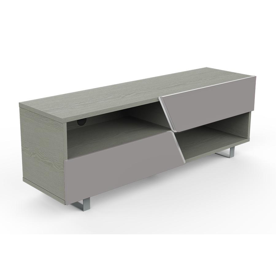 kairos home meuble tv mk162 jusqu a 65 chene gris gris clair bois et metal