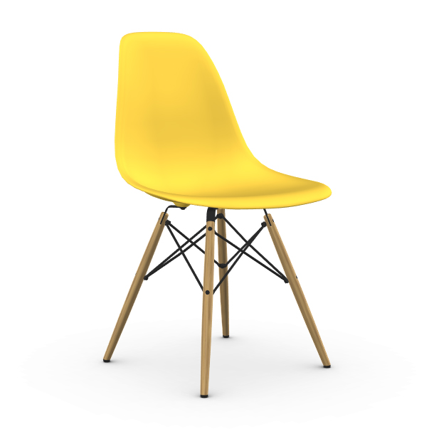 vitra chaise eames plastic side chair dsw nouvelles dimensions sunlight polypropylene et erable clair