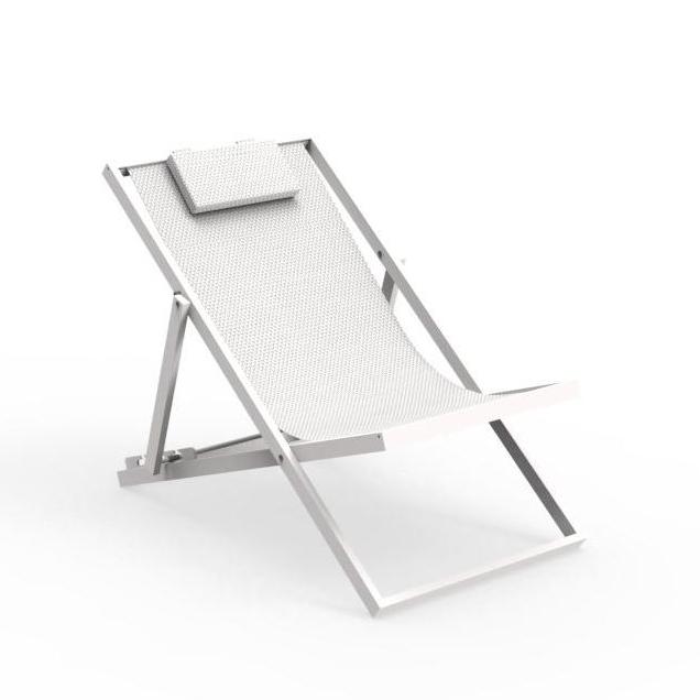 talenti transat bain de soleil chaise longue d exterieur touch collection piutrentanove white aluminium verni et tissu