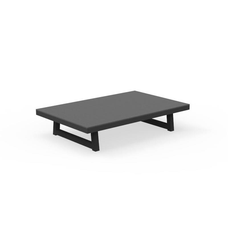 talenti table basse d exterieur alabama alu collezione premium graphite dark cement aluminium peint et fibre de ciment