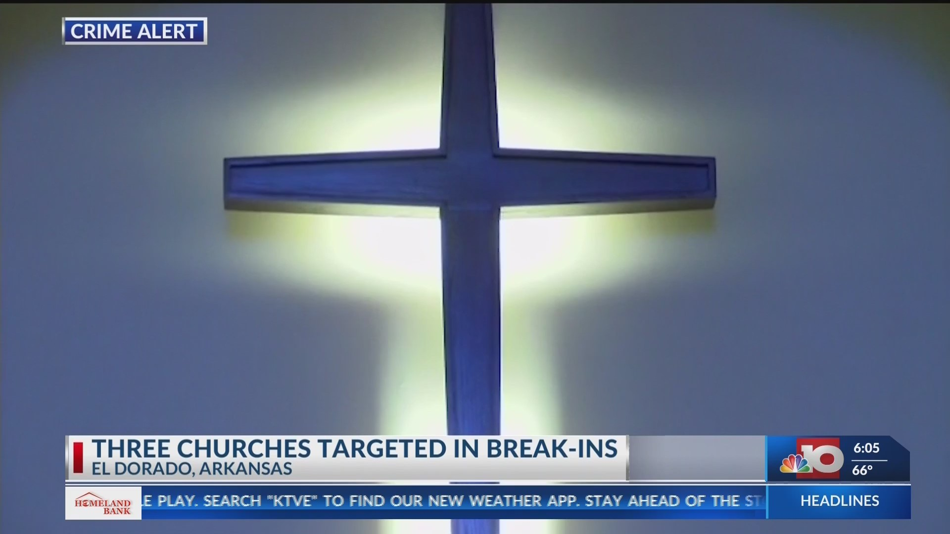 Three churches targeted for burglaries over the weekend