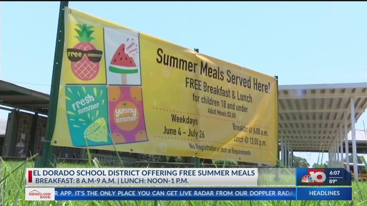 El Dorado School District offering free breakfast and lunch to children throughout the summer